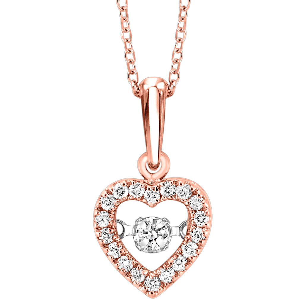10K Diamond ROL Pendant 1/5 ctw Pendant BW James Jewelers