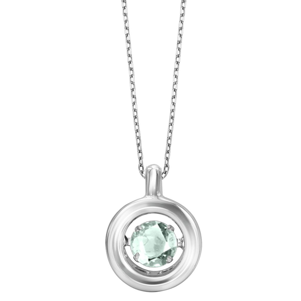 Genuine Aqua Silver Pendant Pendant BW James Jewelers
