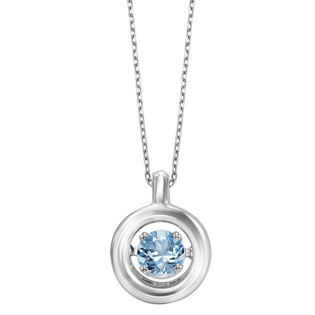 Genuine Blue Topaz Silver Pendant Pendant BW James Jewelers