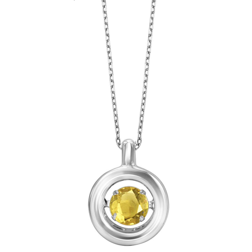 Genuine Citrine Silver Pendant Pendant BW James Jewelers