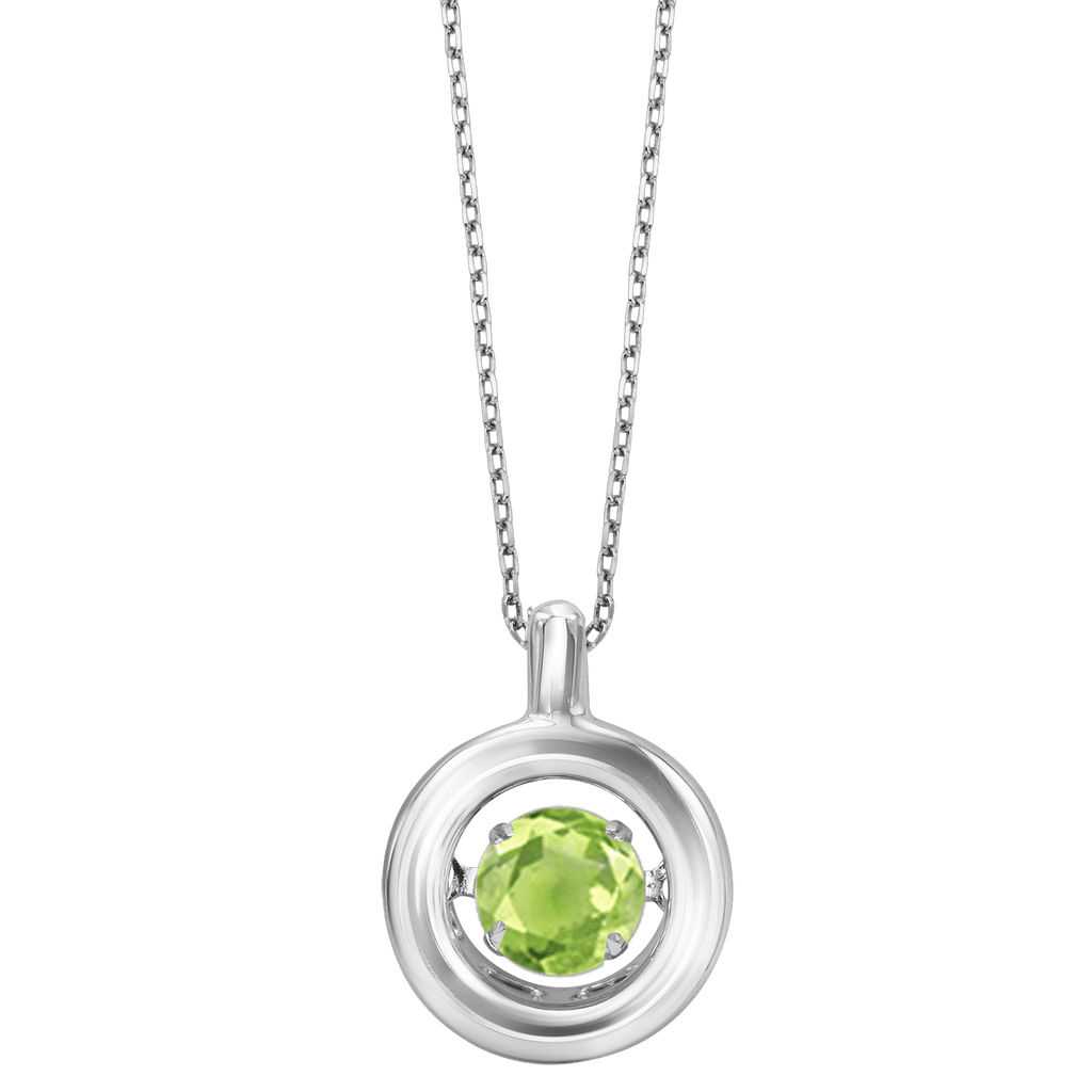 Genuine Peridot Silver Pendant Pendant BW James Jewelers