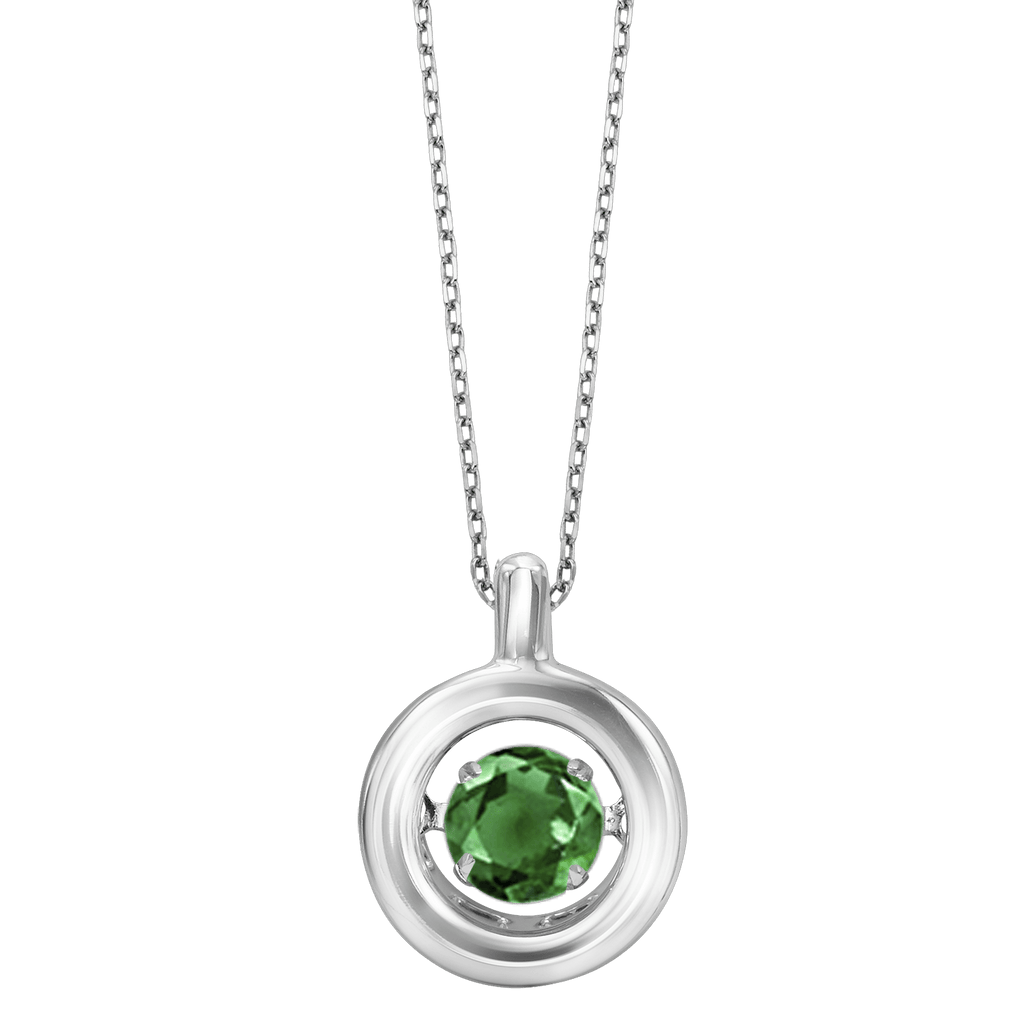 Genuine Emerald Silver Pendant Pendant BW James Jewelers