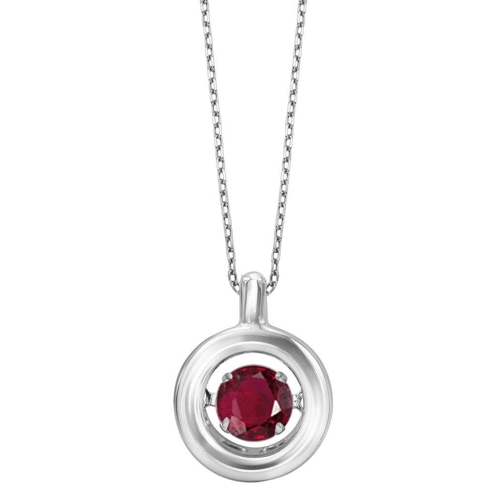 Genuine Ruby Silver Pendant Pendant BW James Jewelers
