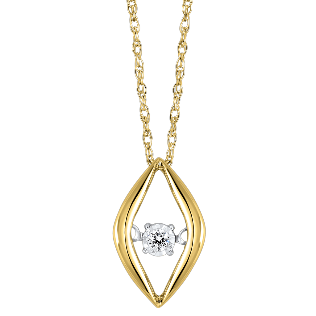 Gold Diamond ROL Pendant Pendant BW James Jewelers