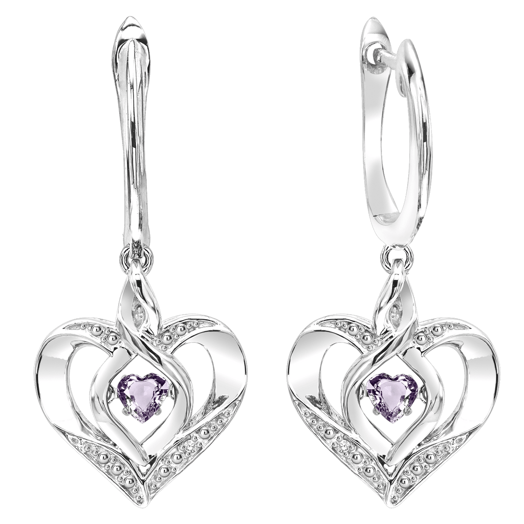 SS Diamond ROL-Birthst Heart Basics Earring Earrings BW James Jewelers