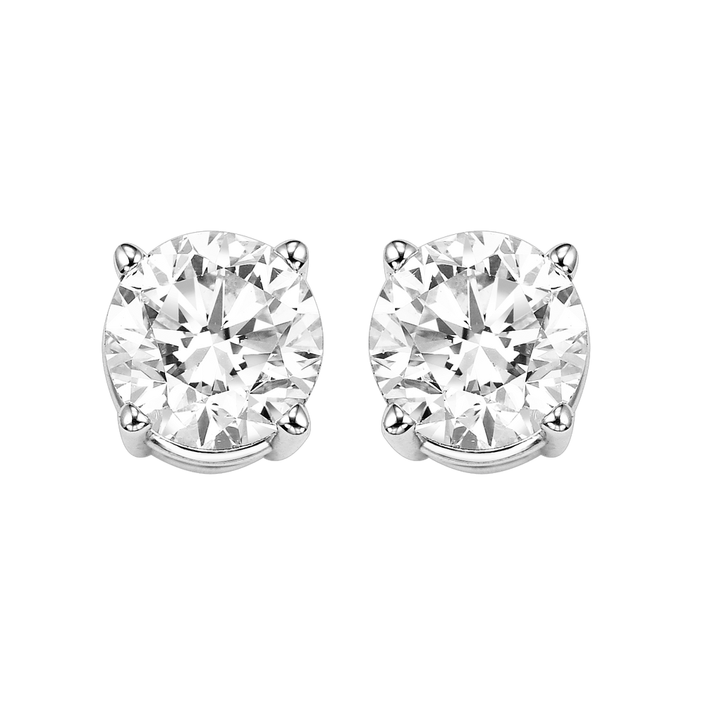 14KTW Diamond Round Basics Stud 1/2Ct BW James Jewelers