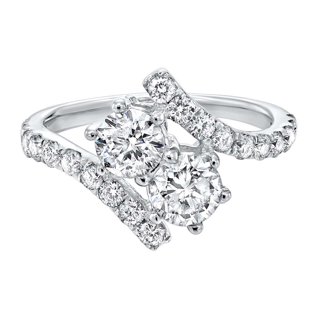 14KTW Diamond Twogether Fashion Ring 1/4Ct Ring BW James Jewelers