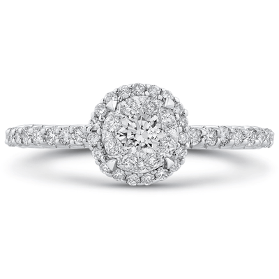 LUMINOUS Halo Diamond Ring Engagement Ring BW James Jewelers