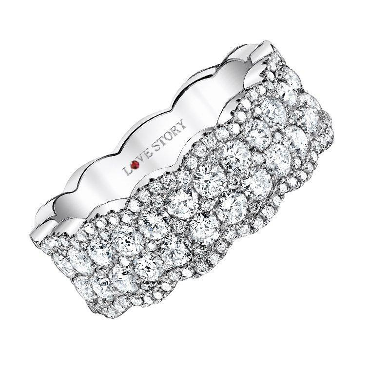 Love Story Glamour Diamond Band diamond wedding bands Love Story
