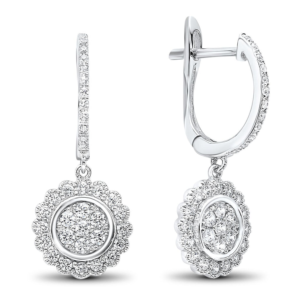 Floral Diamond Earrings Earrings BW James Jewelers