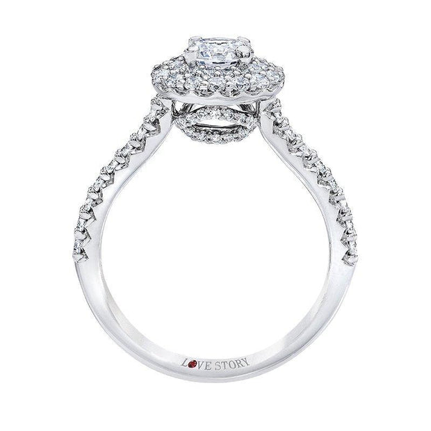 Love Story Double Halo Diamond Engagement Ring Engagement Ring Love Story
