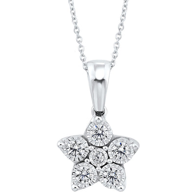 Silver and Diamond Pendant
