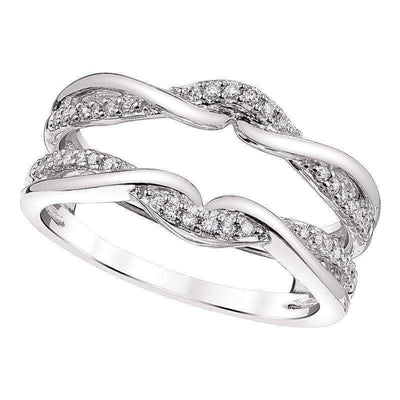 14k Diamond Guard and Wrap diamond wedding bands BW James Jewelers