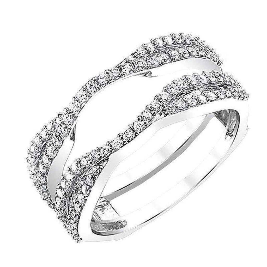 14k Diamond Twist Guard and Wrap diamond wedding bands BW James Jewelers