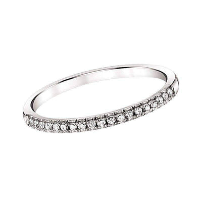 White Gold Diamond Wedding Band 1/10ctw diamond wedding bands BW James Jewelers