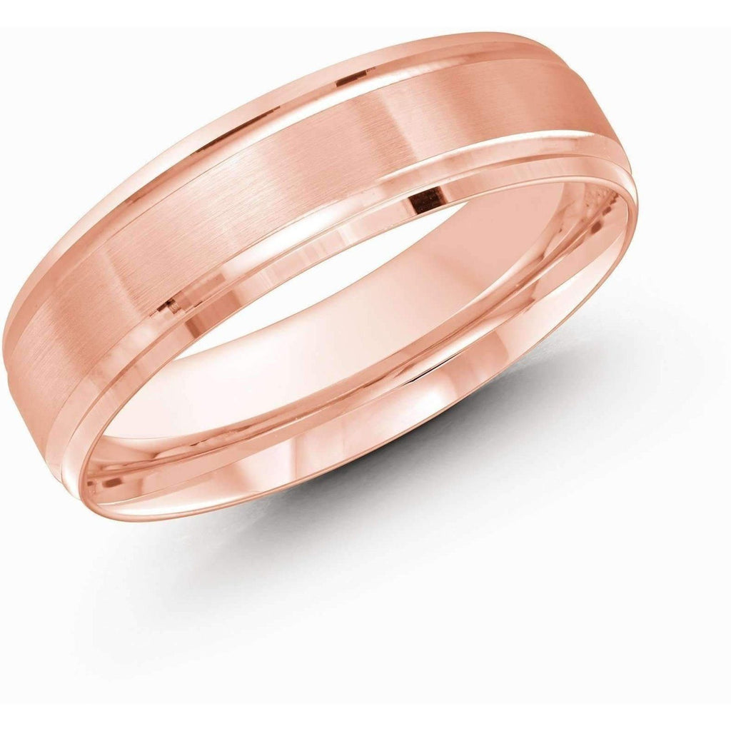 Rose Gold Wedding Band Gold Wedding Bands Malo