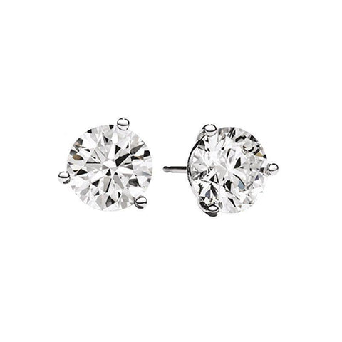 14k Martini Set 1ctw Diamond Stud Earrings