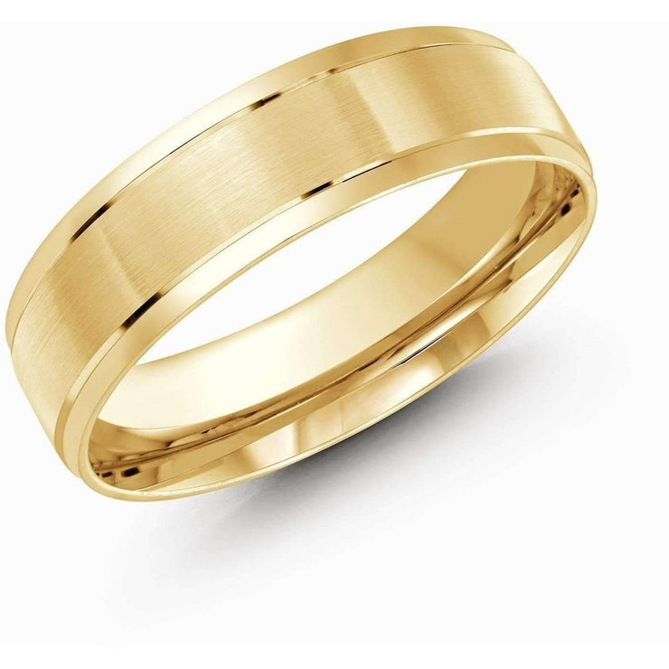Yellow Gold Wedding Band Gold Wedding Bands Malo
