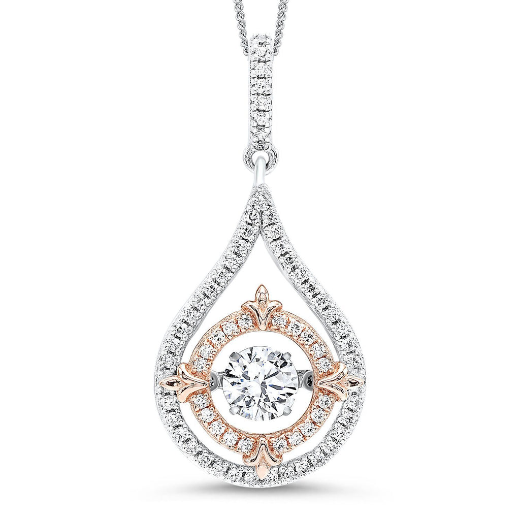 Silver Teardrop Pendant Necklace BW James Jewelers