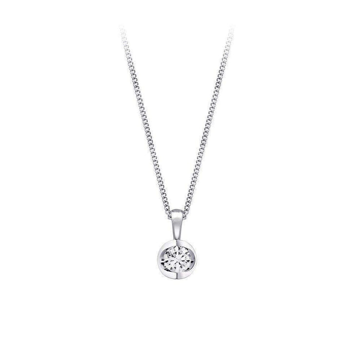 Polar Fire Diamond Pendant White Gold Necklace BW James Jewelers