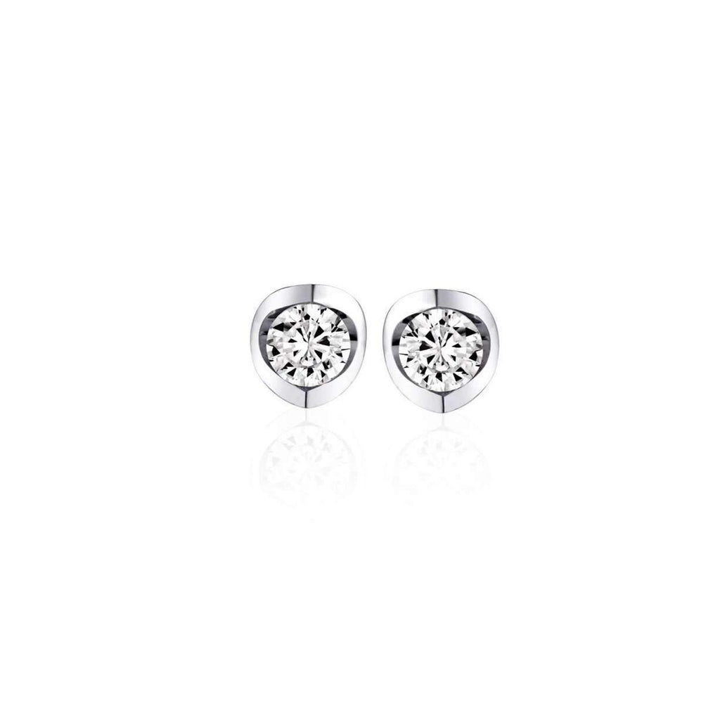 Polar Fire Diamond Earrings White Gold