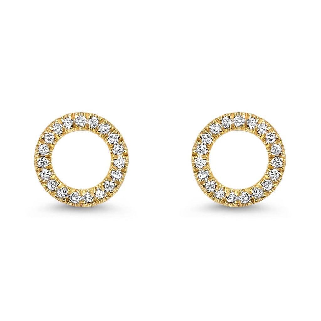 Circle Shape Diamond Earrings Earrings BW James Jewelers