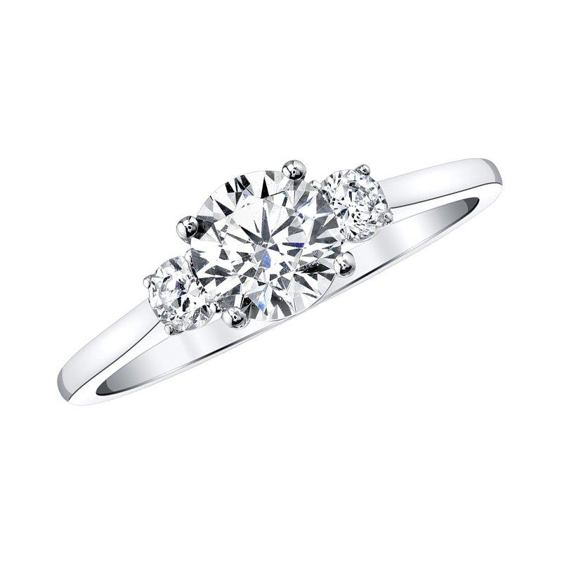 Love Story Classic Three Stone Diamond Engagement Ring 1ctw Engagement Ring Love Story