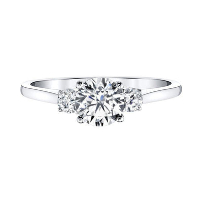 Love Story Classic Three Stone Diamond Engagement Ring 1ctw