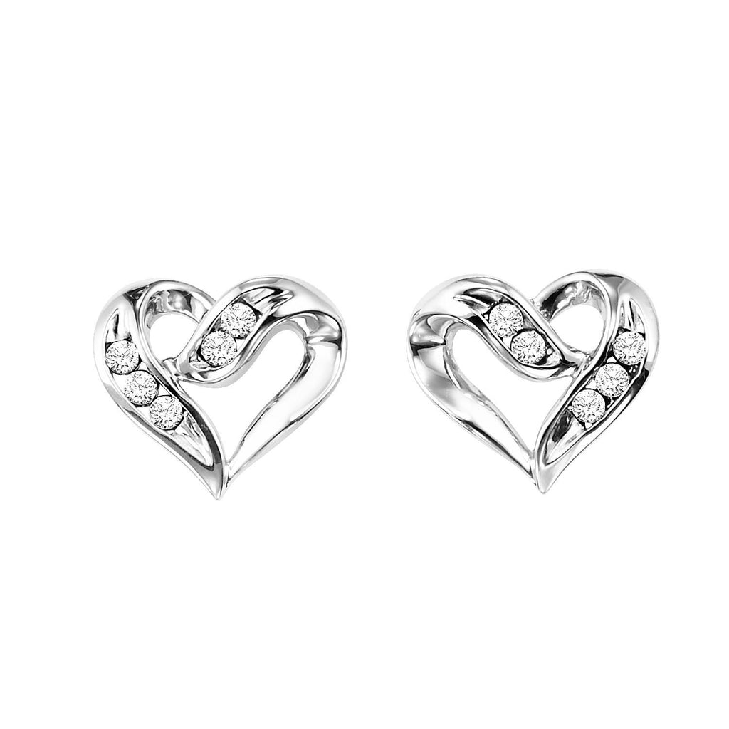 Sterling Silver Heart Shape Earrings Earrings BW James Jewelers