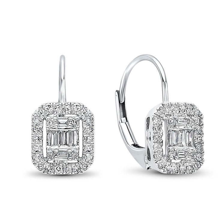 White Gold and Diamond Earrings Earrings BW James Jewelers