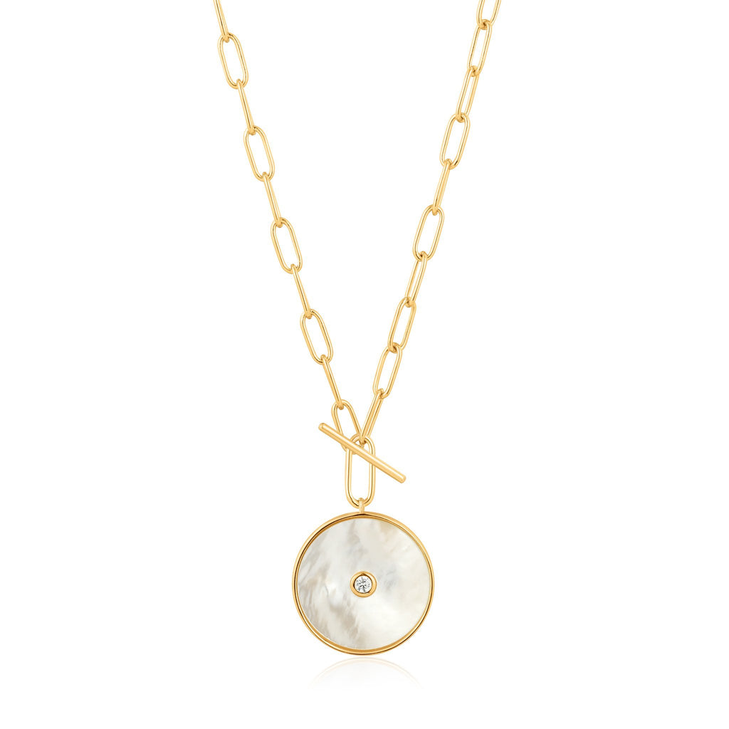 MOTHER OF PEARL T-BAR NECKLACE ANIA HAIE