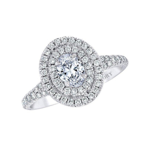 Love Story Oval Halo Engagement Ring