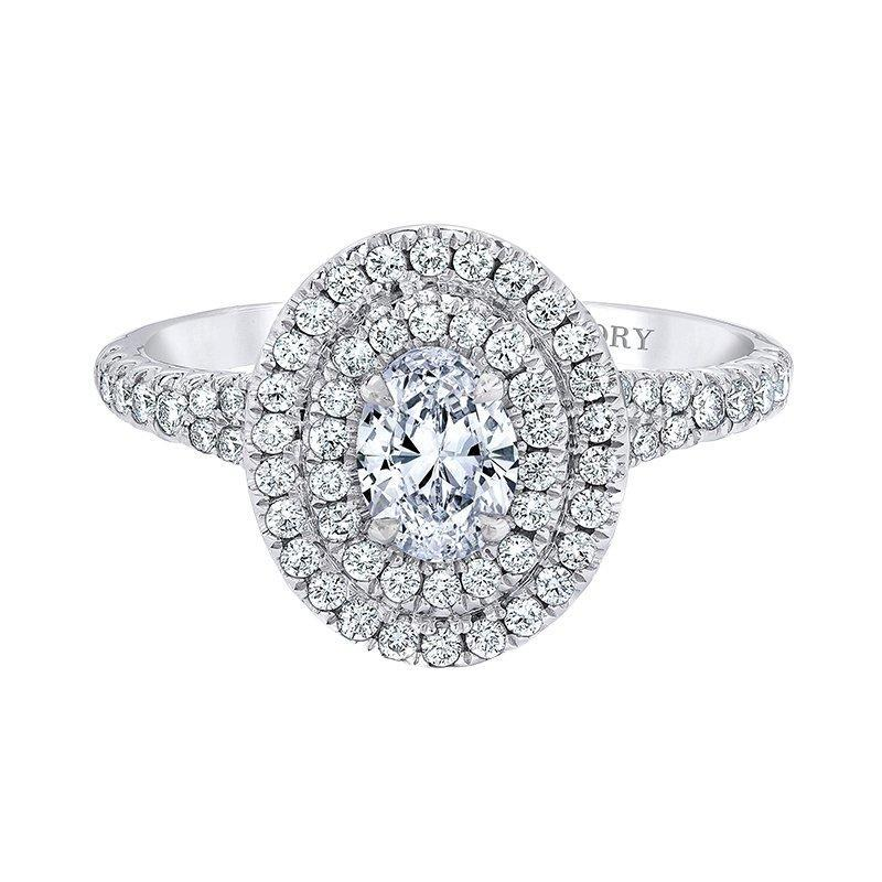 Love Story Oval Halo Engagement Ring Engagement Ring Love Story
