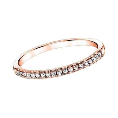 Rose Gold Diamond Wedding Band diamond wedding bands BW James