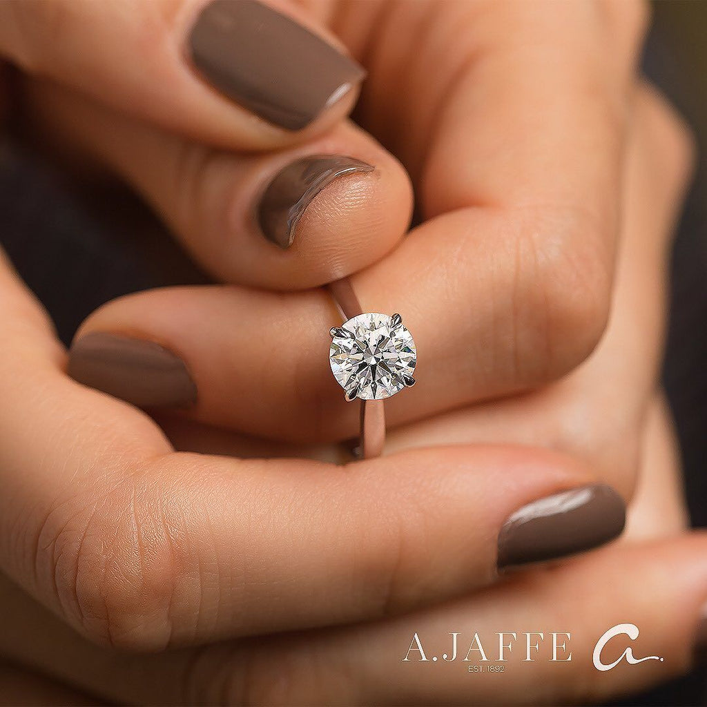 A. Jaffe Classic Solitaire Semi-Mount Engagement Ring Engagement Ring A. Jaffe
