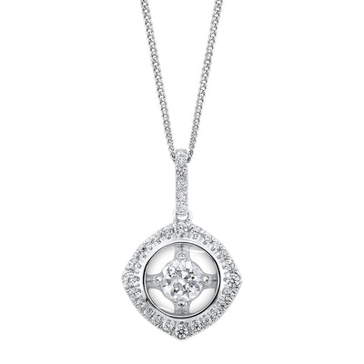 Diamond Pendant Necklace BW James Jewelers