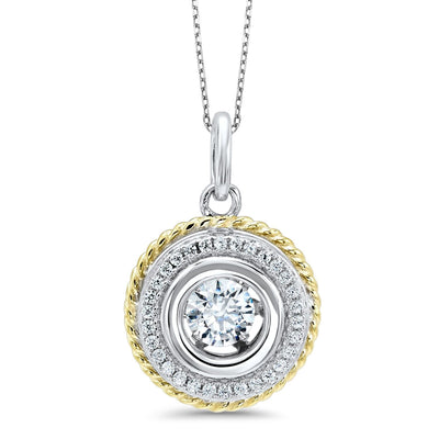 Floral Silver Pendant Necklace BW James Jewelers