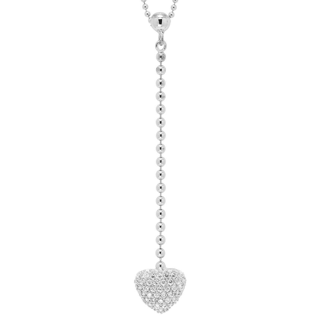 Heart Pendant Necklace BW James Jewelers