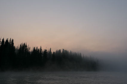 Early  morning fog on the Kenai River.