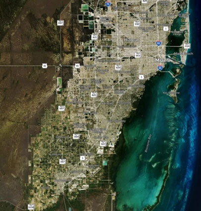 Miami area satellite image