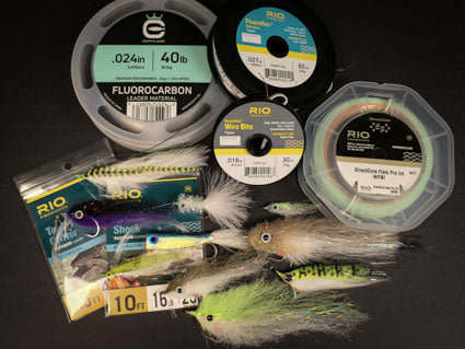 Lines, leaders, tippets and flies for the bait run.