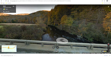 Google Earth street view of river in NC.