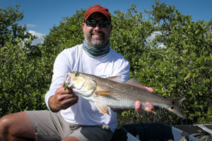 A nice fly-caught redfish.