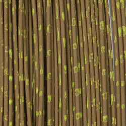 Barred Round Rubber - Medium, Brown/Chartreuse (RRB347)