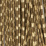 Barred Round Rubber - Medium, Brown/Gold (RRB353)