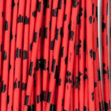 Barred Round Rubber - Medium, Red/Black (RRB300)