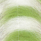 "EP Sommerlatte's UV Grizzly Foxy Brush - 3"", Chartreuse/White"