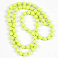 Fluorescent Bead Chain Eyes - Medium, Fl. Chartreuse