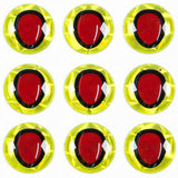 "Oval Pupil Eyes – 5/16"", Chartreuse/Red"