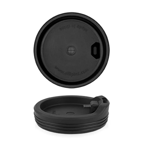 Silipint 16/22oz Drinking Glass Lid - Black